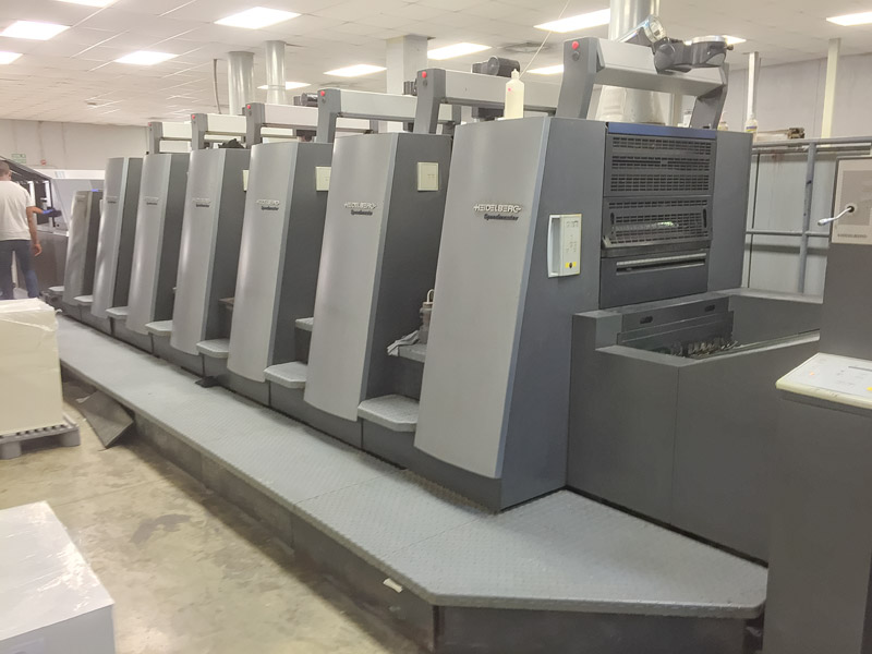 Used, Heidelberg, CD, 74, six, 6, color, LX, tower, coater, F, format, 23, 29, 6, up