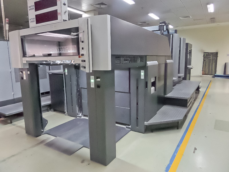 Used Heidelberg SM102-2P with Preset Plus delivery and Preset Plus feeder