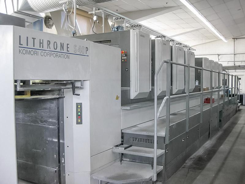 Used Komori LS840P 4/4 perfector 8/0 press for sale