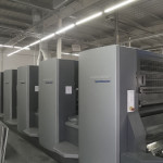 Used Heidelberg CD102-5+LX five color coater printing press for sale