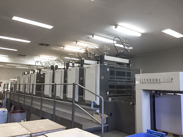 Komori LS840P printing press for sale perfector 4/4