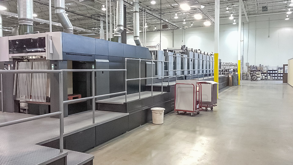 Used Heidelberg CD102-8+LX eight color packaging press for sale